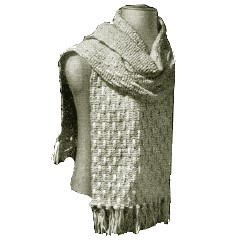 Vintage Fancy Knitted Scarf