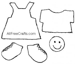 printable clothes pattern for craft stick doll