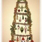 Christmas wall tree with natural branches