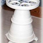 Clay Pot Birdbath or Table