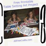 placemat coloring art project