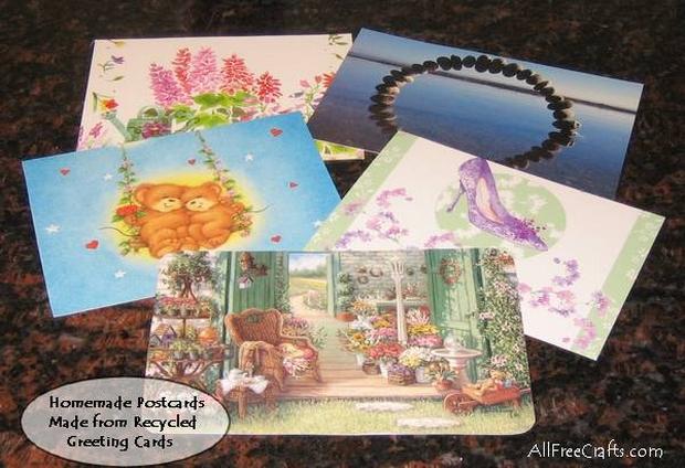 greeting card postcards