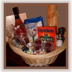 new home blessings basket with symbolic gifts
