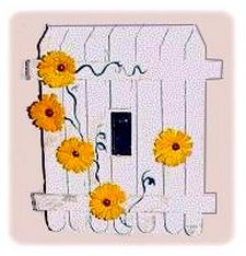 picket fence light switch plate