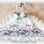 Lace Potpourri Clothes Hanger