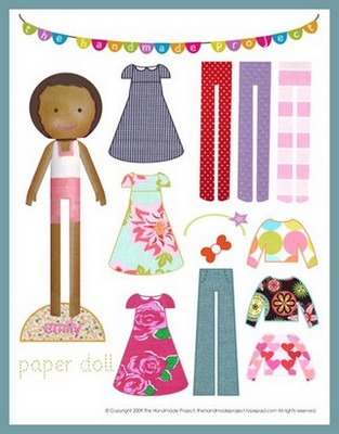 African American Girl Paper Doll