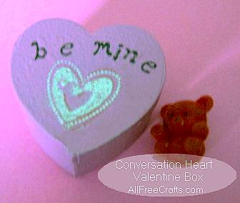 Conversation Heart Box with closed lid