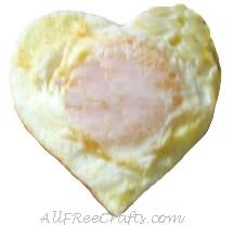 fried egg in a heart shape