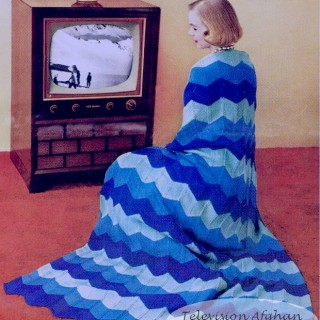 free crochet Television Afghan pattern