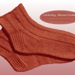 free knitted women's socks pattern from Lux Knitting Book