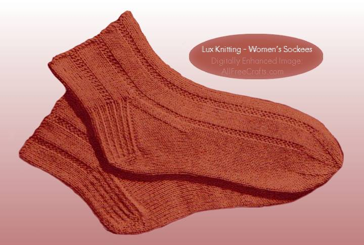 Knitted Ankle Socks Patterns Free : Free Knitting Pattern for Womens Socks