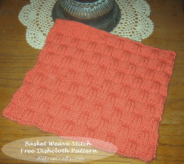 Basket Weave Stitch Dishcloth