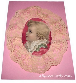 lace picture frame card