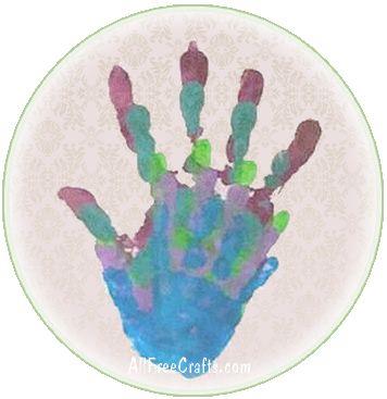 family circle hand print