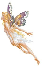 flying fairy with butterfly wings