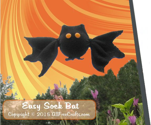 halloween craft ideas 2015 easy sock bat from one black s sock 4596