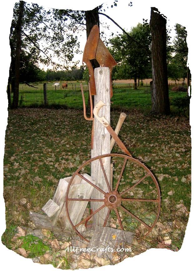 Garden Art from Rusty Tools