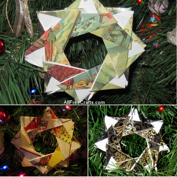 recycled greeting card crafts, Greeting card