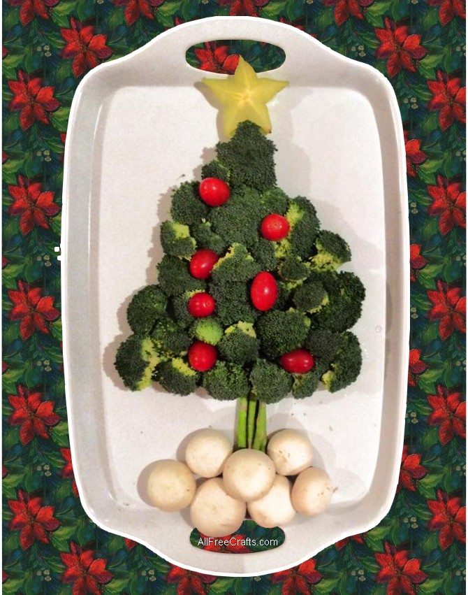 Vegetable Christmas Tree Platter