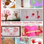 10 Easy Valentine Hand Print Crafts
