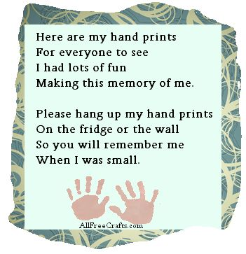 here are my hand prints poem