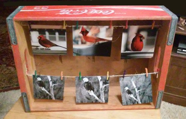 DIY coke box picture frame