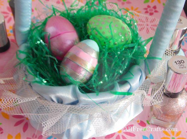 Nail Polish Painted Eggs