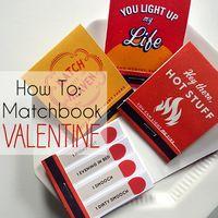 printable matchbook valentine