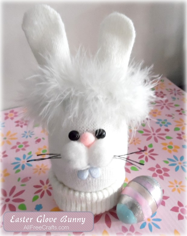 easter glove bunny