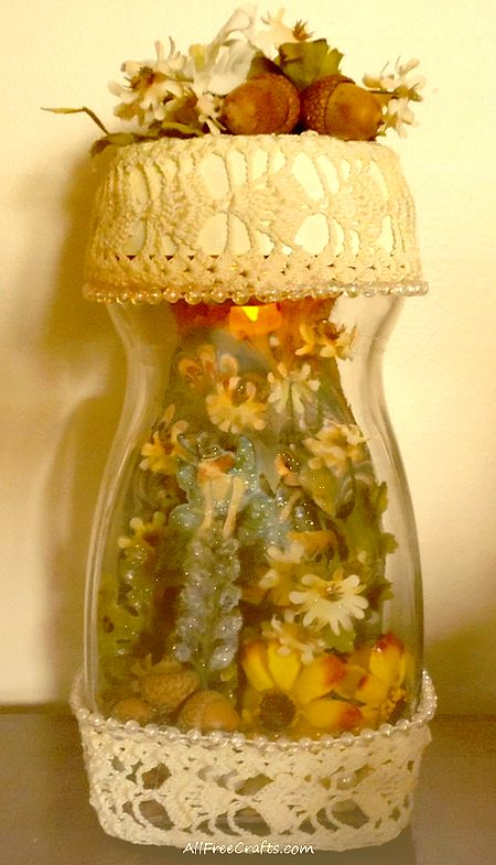 embellished captured fairy jar