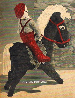 vintage crocheted horse - cover photo