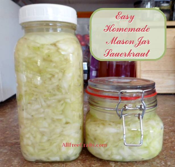 Mason Jar Sauerkraut