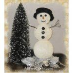 styrofoam glitter paint snowman