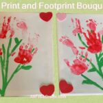hand and footprint bouquet