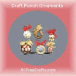 craft punch Christmas ornaments