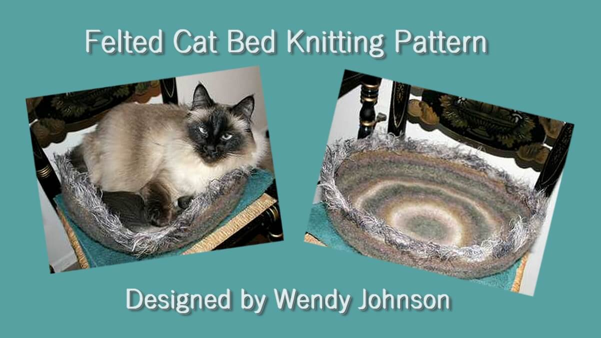 felted cat bed knitting pattern