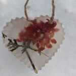 heart shaped ice ornament