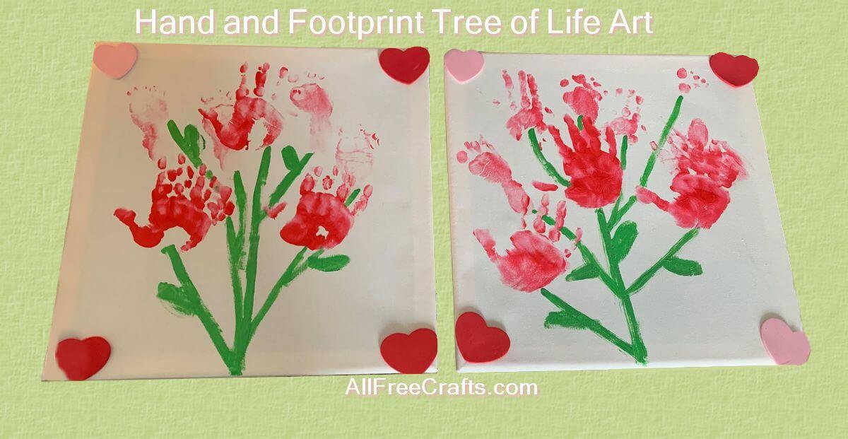 Tree of Life Hand and Footprint Art