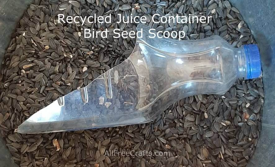 recycled juice container scoop