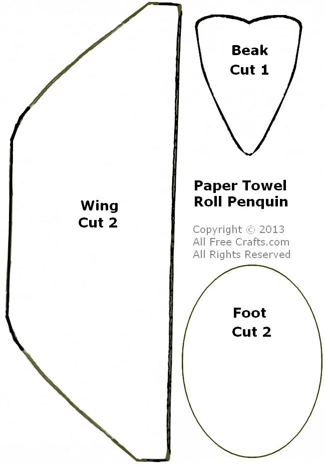 graphic relating to Penguin Patterns Printable known as Paper Towel Roll Penguins - All No cost Crafts
