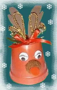Clay Pot Reindeer Craft