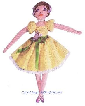crochet pattern ballerina doll