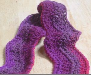 Free Crochet Pattern Ripple Scarf : Free Crochet Ripple Wave Scarf Pattern