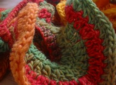 Free Crochet Pattern For A Spiral Scarf : Free Crochet Spiral Scarf Pattern