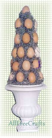 brown egg topiary