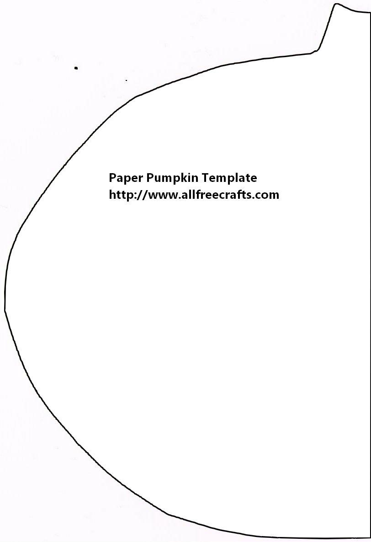 Construction Paper Pumpkin PatternFan Fold Pumpkins