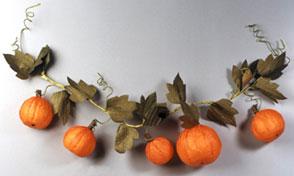 Styrofoam Pumpkin Garland