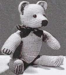 Weldons Knitted Teddy Bear Pattern