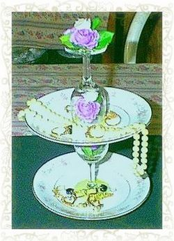 Craft Ideas Recycled on Recycling Crafts  Tiered Jewelry Catch All Or Wedding Table