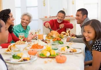 turkey dinner table